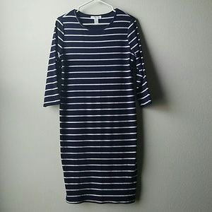 Motherhood Maternity Striped Tee shirt Dress